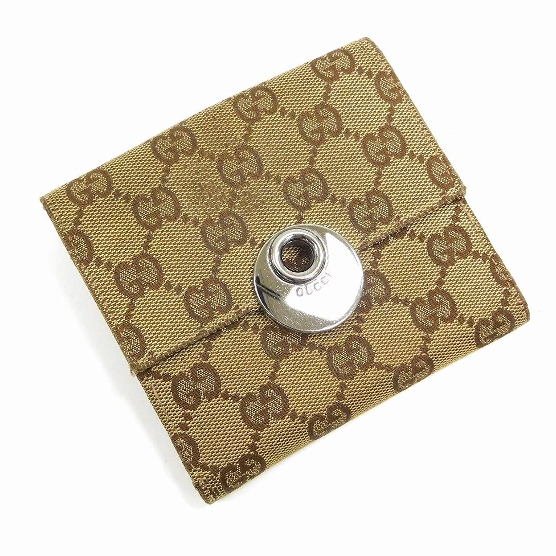 [グッチ] GUCCI 二つ折り財布 GGキャンバス キャンバス×レザー X15096 中古 B071LJKR44