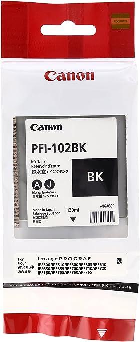 Canon Tintenpatrone Pfi 102bk Für Ipf 500 600 610 650 655 700 710 720 750 755 Lp17 Lp24 Schwarz 0895b001 Bürobedarf Schreibwaren