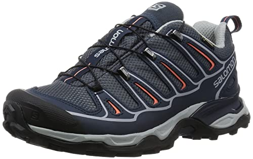 47503d294e0e Salomon Women s s X Ultra 2 GTX Low Rise Hiking Shoes Grey Denim Deep Blue