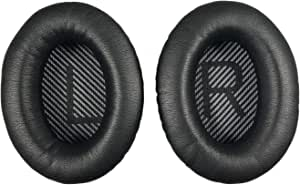 Replacement Ear Pads Earpads for Bose QuietComfort QC 2 15 25 35 Ear Cushion for QC2 QC15 QC25 QC35 SoundTrue SoundLink Around-Ear Headphones(Black V2)