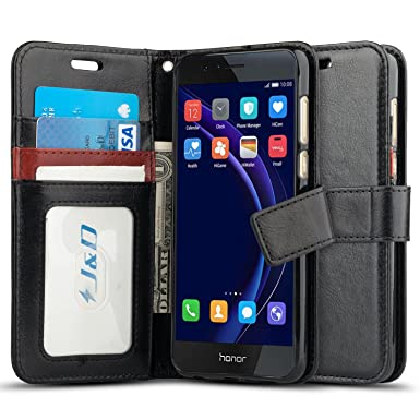pretty nice f2137 f3d06 J&D Case Compatible for Huawei Honor 8 Case, [Wallet Stand] [Slim Fit]  Heavy Duty Protective Shock Resistant Flip Cover Wallet Case for Huawei  Honor 8 ...