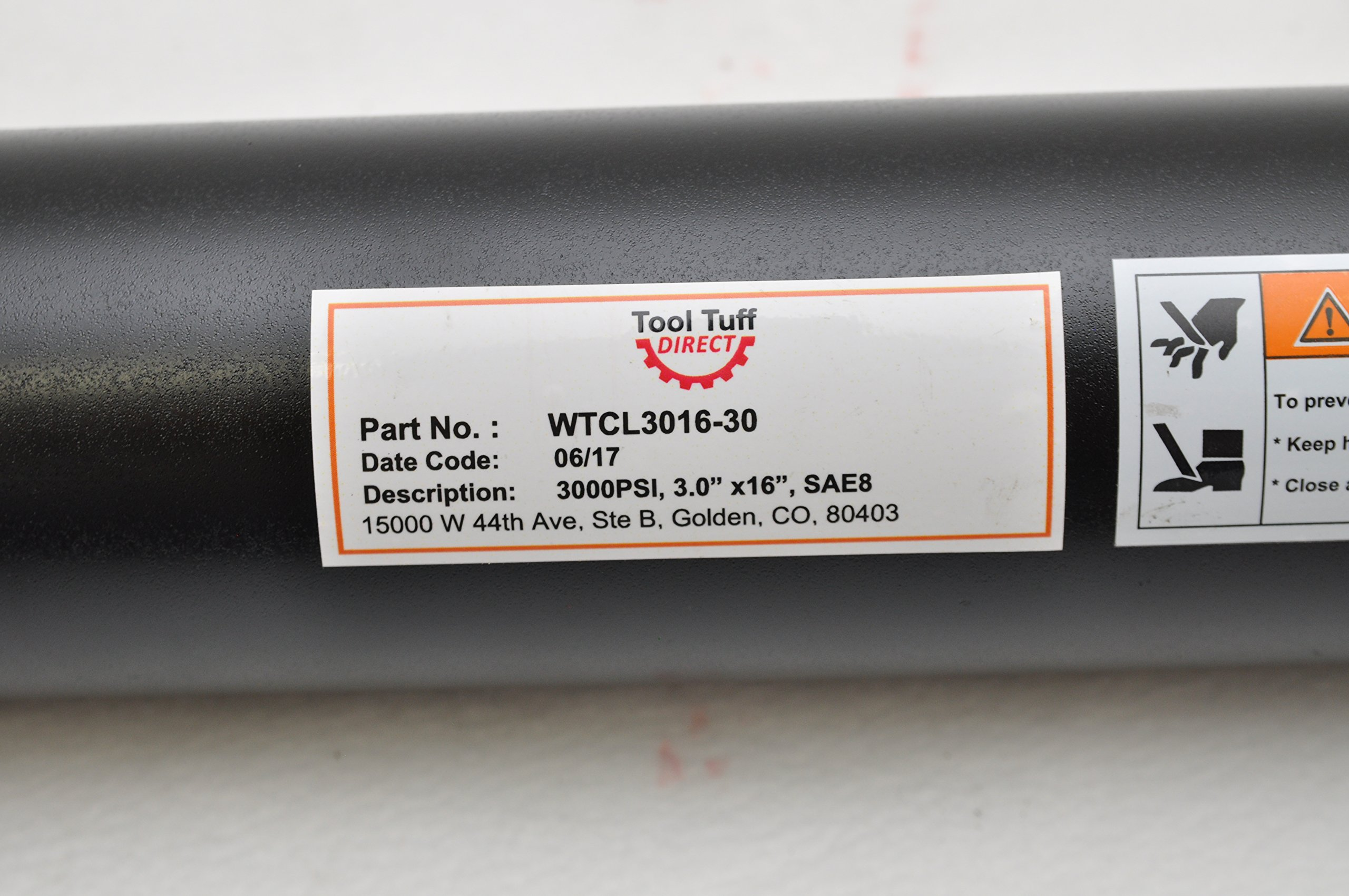 3'' Bore x 16'' Stroke Welded Cross Tube Tie Rod Cylinder 3000 PSI, SAE Ports by Tool Tuff (Image #4)