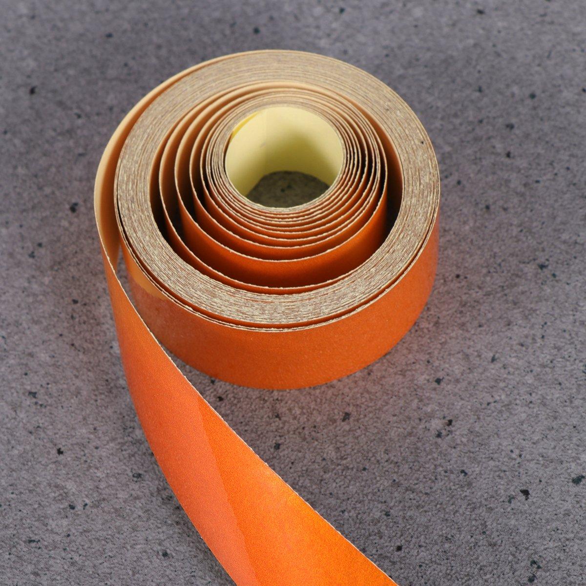 Vorcool 2 cm x 5 m Bande d/écorative autocollante r/éfl/échissante pour voiture moto DIY D/écor Orange