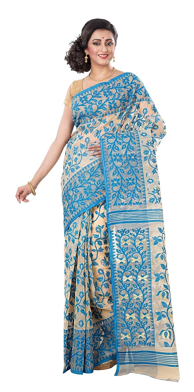 Cotton Silk Handloom Dhakai Jamdani Saree