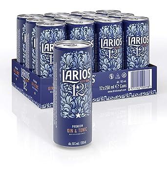 Larios 12 Gin Tonic, Spanischer Genuß to go (12 x 0,25l) Dosen - EINWEG - inkl. 3,00 Euro DPG Pfand