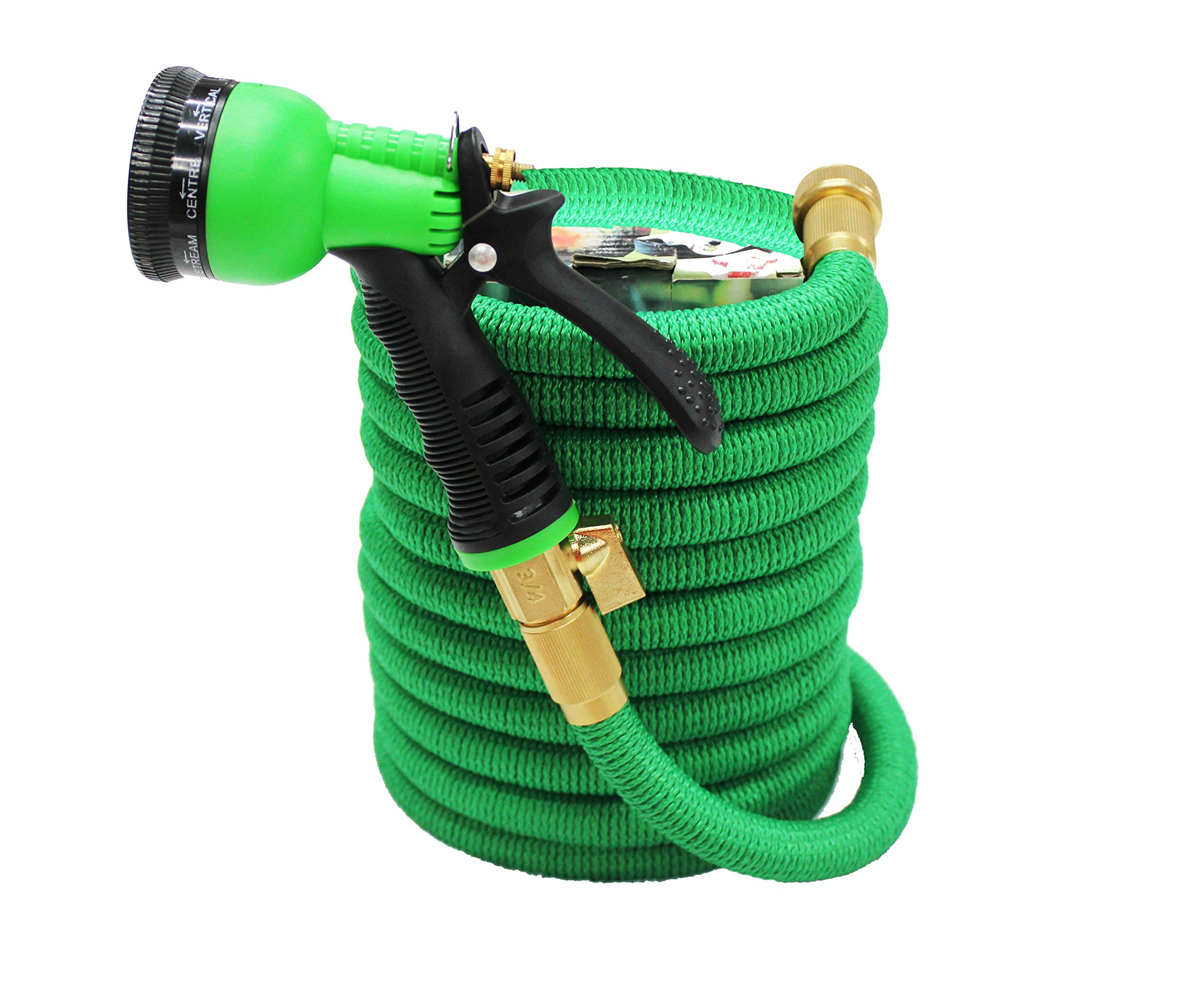 Expandable Garden Hose – 50 Feet Expandable Garden Hose – 8 Setting Spray Head Hose – For Gardening and Car Washing – Lightweight and Flexible – Easy to Use & Strong Webbing