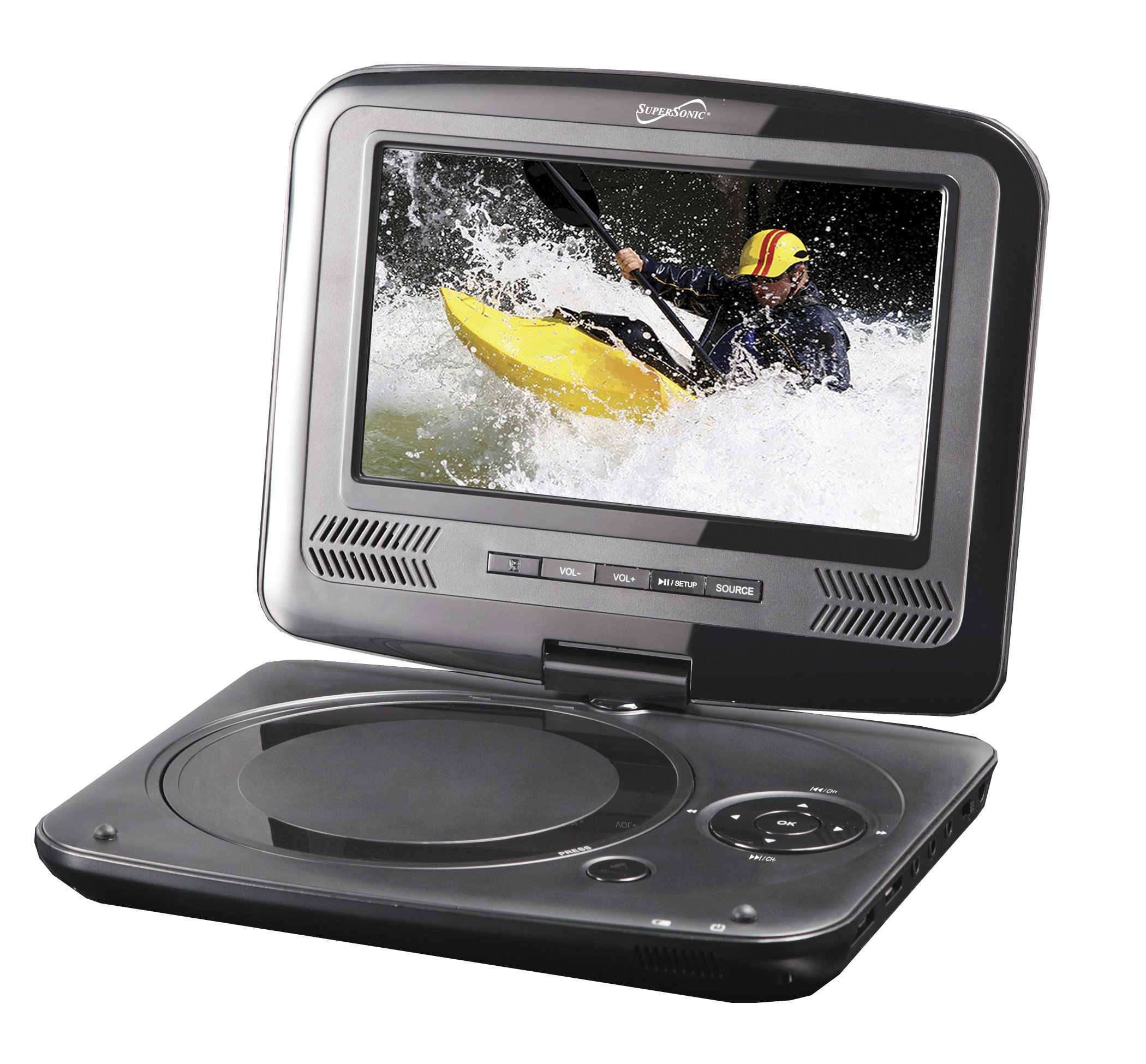 "Supersonic SC-259 9"" TFT Portable DVD/CD/MP3 Player with TV Tuner, USB & SD Card Slot by Supersonic"