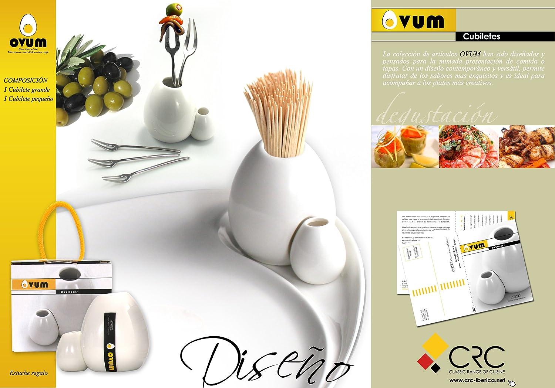 FranquiHOgar Ovum Juego de servir tapas. 22 piezas: 8 fuentes de servir + 12 pinchos aperitivos + 2 cubiletes: Amazon.es: Hogar