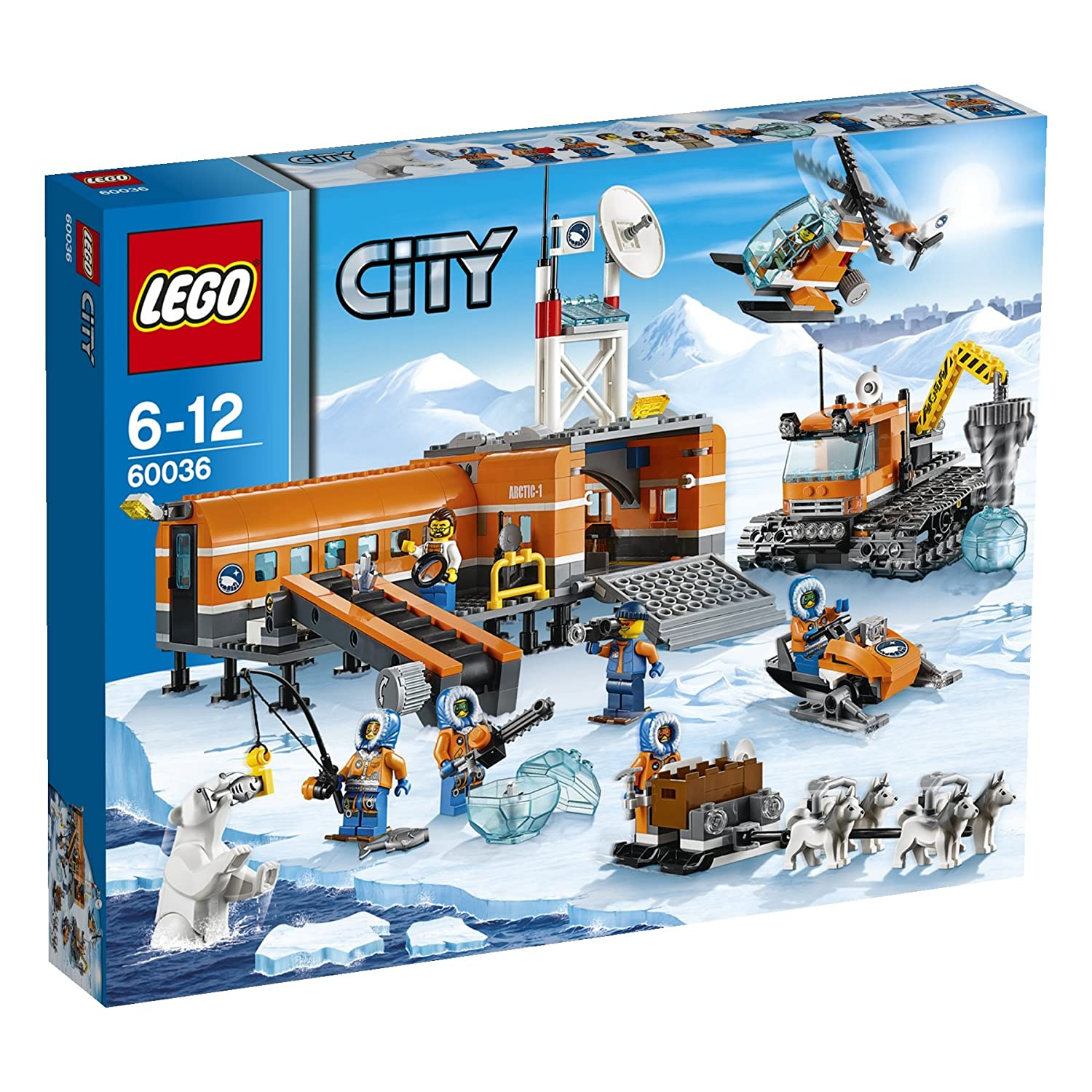 Lego 174 City 174 Arctic Base Camp With Helicopter Ice Driller
