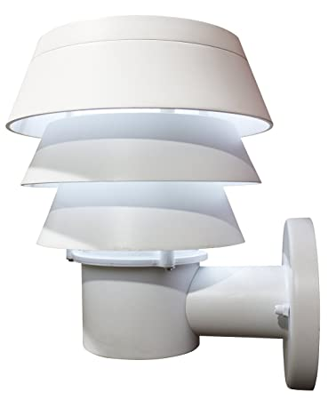 Gama Sonic Triple Tier Solar Outdoor Led Light Fixture Wall Mount White Finish
