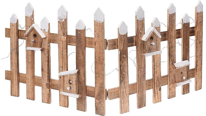 Decorazioni In Legno Per Giardino : Staccionata in legno con led u cm u mini recinto da