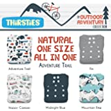 Thirsties TNATOSAIOSCS Snap Natural All In One Counting Sheep One Size Diapers