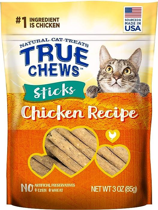True Chews Natural Cat Treats Chicken Recipe, 3 oz