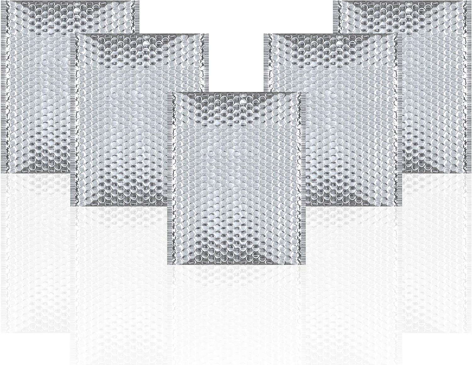 Thermal Insulated Bubble Mailers 11x15 Food Grade Padded Envelopes 11 x 15 Pack of 10 Silver Cushion Envelopes. Peel and Seal. Metallic Foil. Mailing, Shipping, Packing, Packaging