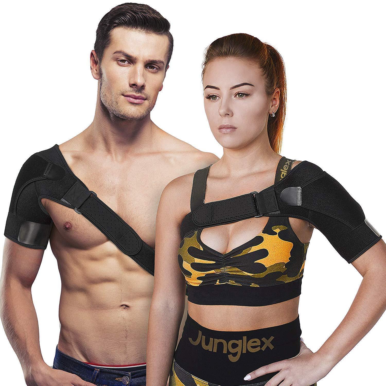 21c3fdef0bac Amazon.com: Junglex Shoulder Support Brace for Women and Men - 100%  Adjustable Shoulder Sling for Torn Rotator Cuff, Stability and Compression  Sleeve ...