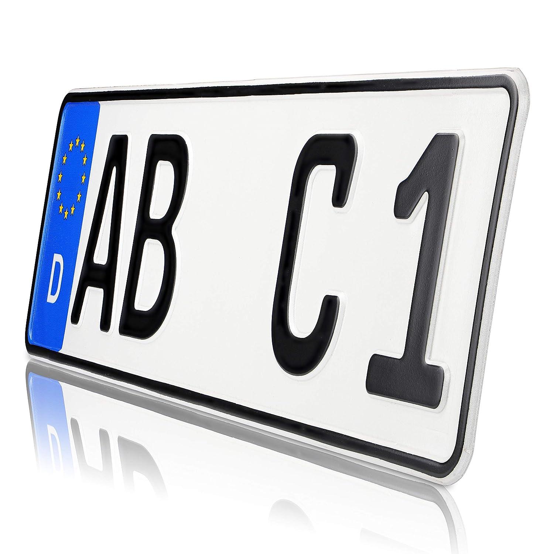 420 UTAL 2 x St/ück EU Kfz-Kennzeichen 42 cm x 11 cm Nummernschilder 420 mm mit individueller Pr/ägung nach Ihren Vorgaben.