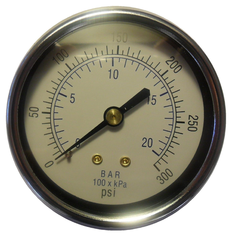 "160 PSI DuraChoice 2/"" Dial Utility Pressure Gauge-Air Compressor Water Oil Gas"