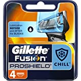 Gillette Fusion ProShield Chill Men's Razor Blades, 4 Count