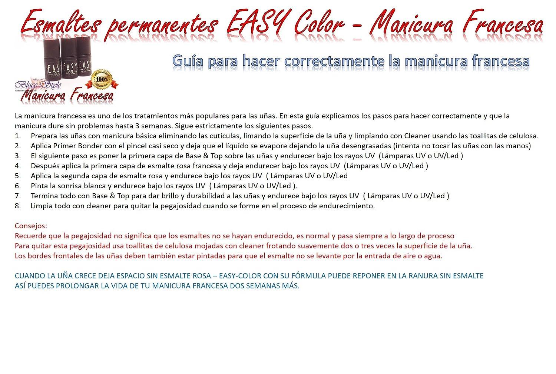 Manicura Francesa -Kit Easy color- Uñas de gel,esmaltes permanentes,pdeicura: Amazon.es: Belleza