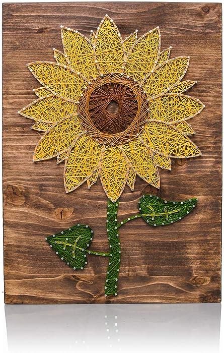 DIY String Art Kit   Sunflower String Art   Craft Kit for Adults   DIY Crafts   Sunflower Decor   Wall Art   Wall Hanging   DIY Kit   Christmas Gift