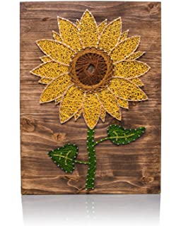 string art kit sunflower string art arts and crafts kit adult crafts