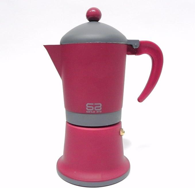 SANTA ANA - Cafetera Italiana con Base de Acero Compatible inducción.: Amazon.es: Hogar