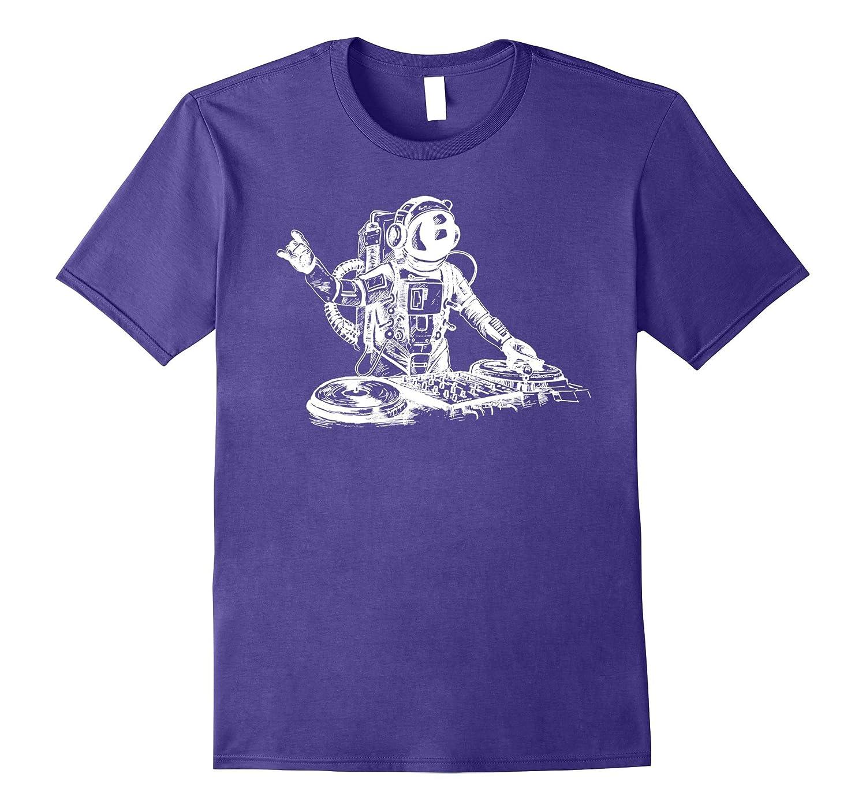 Astronaut DJ T Shirt Funny DJ Astronaut Shirt-PL