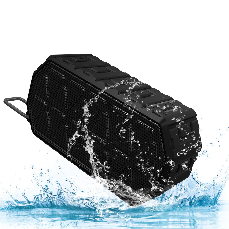 スピーカーワイヤレスBluetoothポータブルスピーカー(リッチベースIPX6付き)防水ワイヤレスBluetooth 4.2(PCデスクトップパソコン用)テレビIphone(ダークブラック) B0756YGYXG