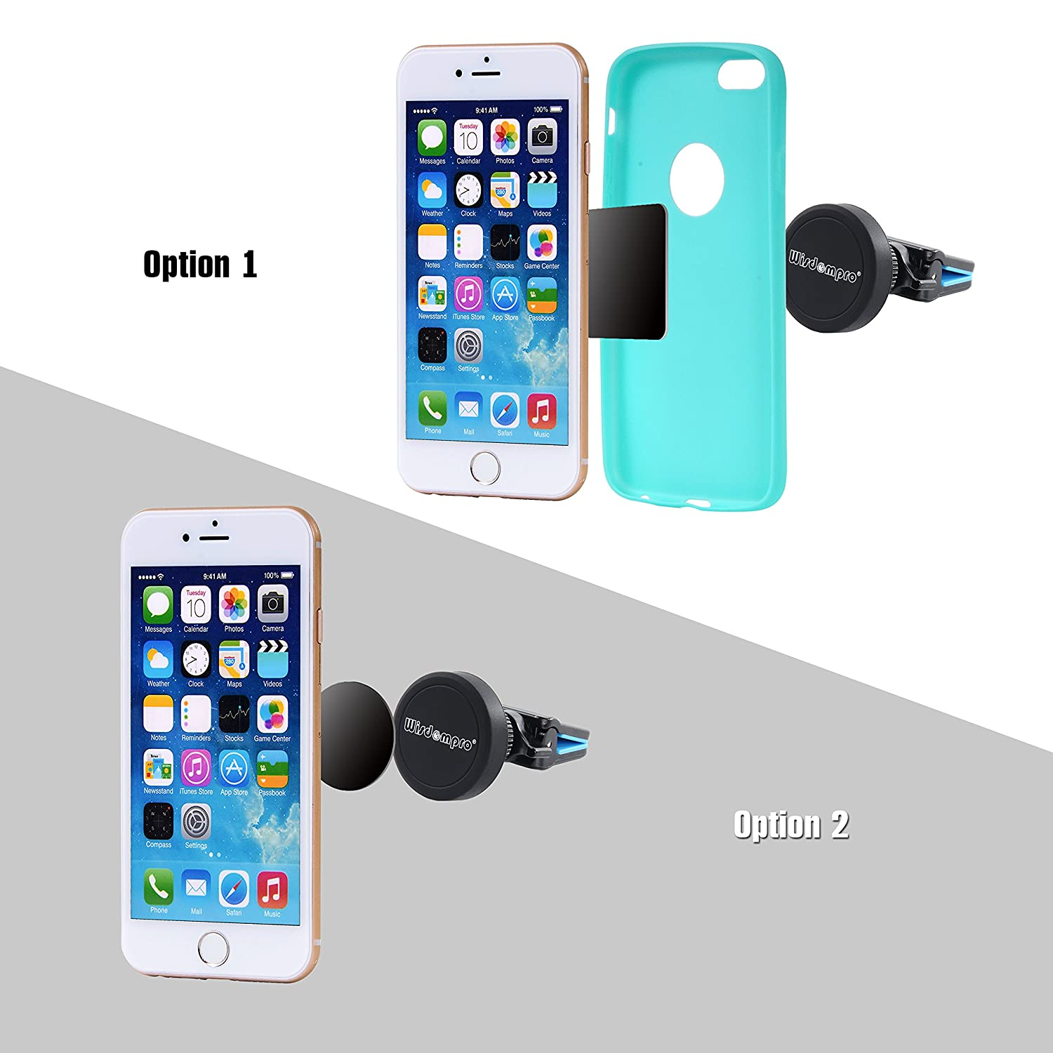 XR 5s 5c SE Plus Wisdompro Car Mount 7 Edge -Black 8 6 Rotating Magnetic Universal Air Vent Cell Phone Mount Holder for iPhone Xs Samsung Galaxy S8 S7 S6 S5 6s