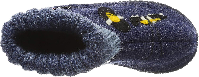 HAFLINGER Unisex-Kinder H/üttenschuh Basti Pantoffeln