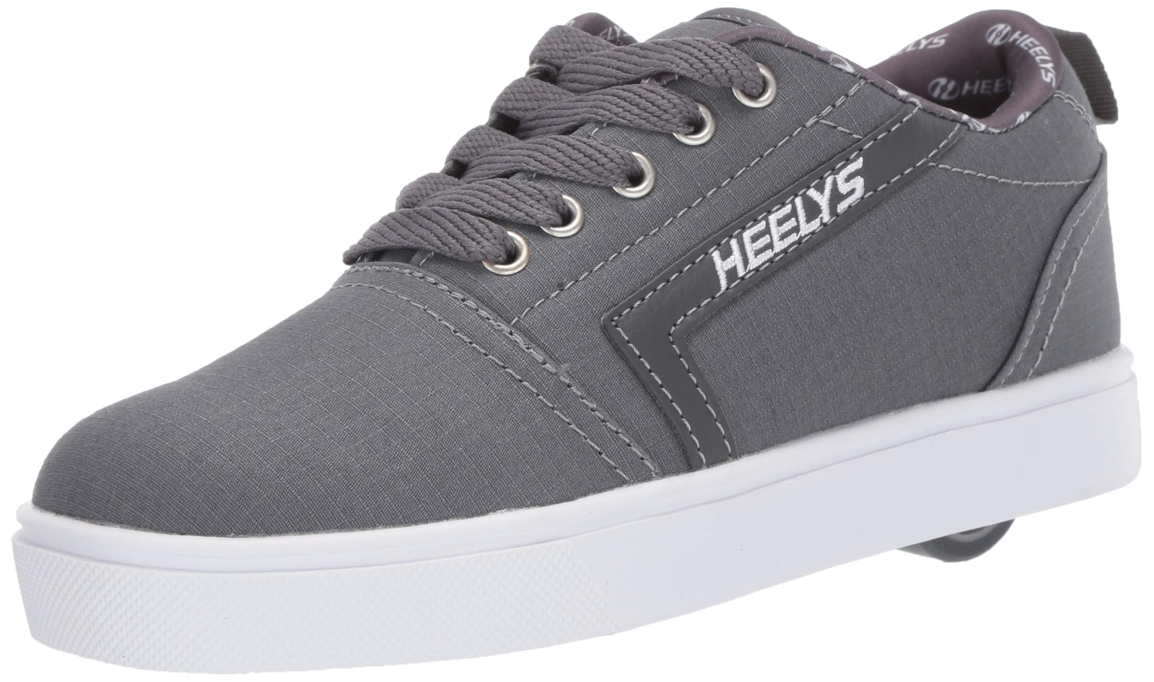 Heelys Boys' GR8 Pro Tennis Shoe, Charcoal/White RIP Stop, 1 M US Big Kid