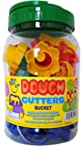 Dough Cutters Bucket 63 Piece Set of Letters, Numbers, and Shapes for Clay and Play-Doh