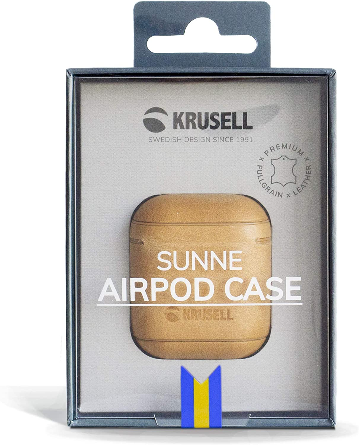 Krusell Sunne AirPod Case Apple AirPods Vintage Nude