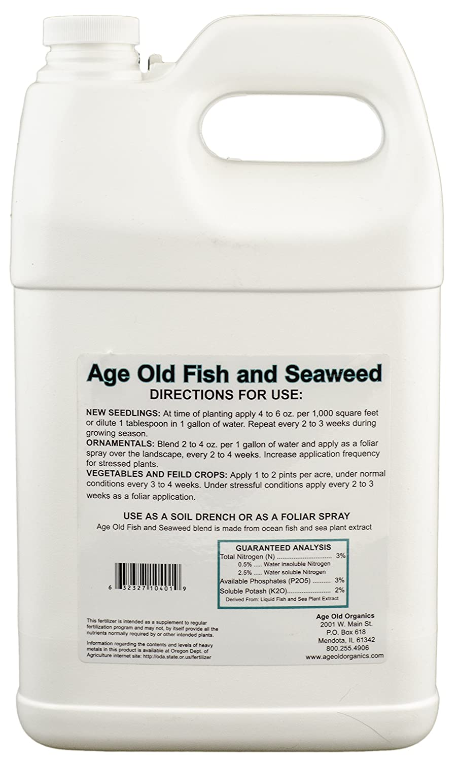 Age Old Fish and Seaweed Liquid Fertilizer, 32-ounce Bottle