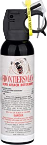SABRE Frontiersman Bear Spray 7.9 oz (Holster Options & Multi-Pack Options) Maximum Strength & Larger Protective Barrier!