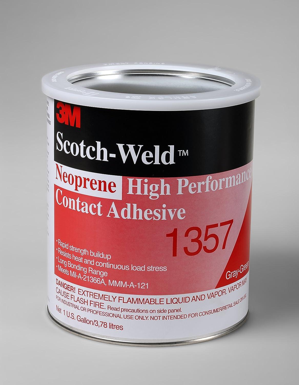 3M Neoprene High Performance Contact Adhesive 1357, Gray-Green