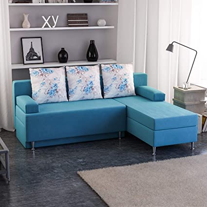 Tremendous Bravo Home Esra 4 Seater L Shaped Sectional Sofa Turquoise Ibusinesslaw Wood Chair Design Ideas Ibusinesslaworg