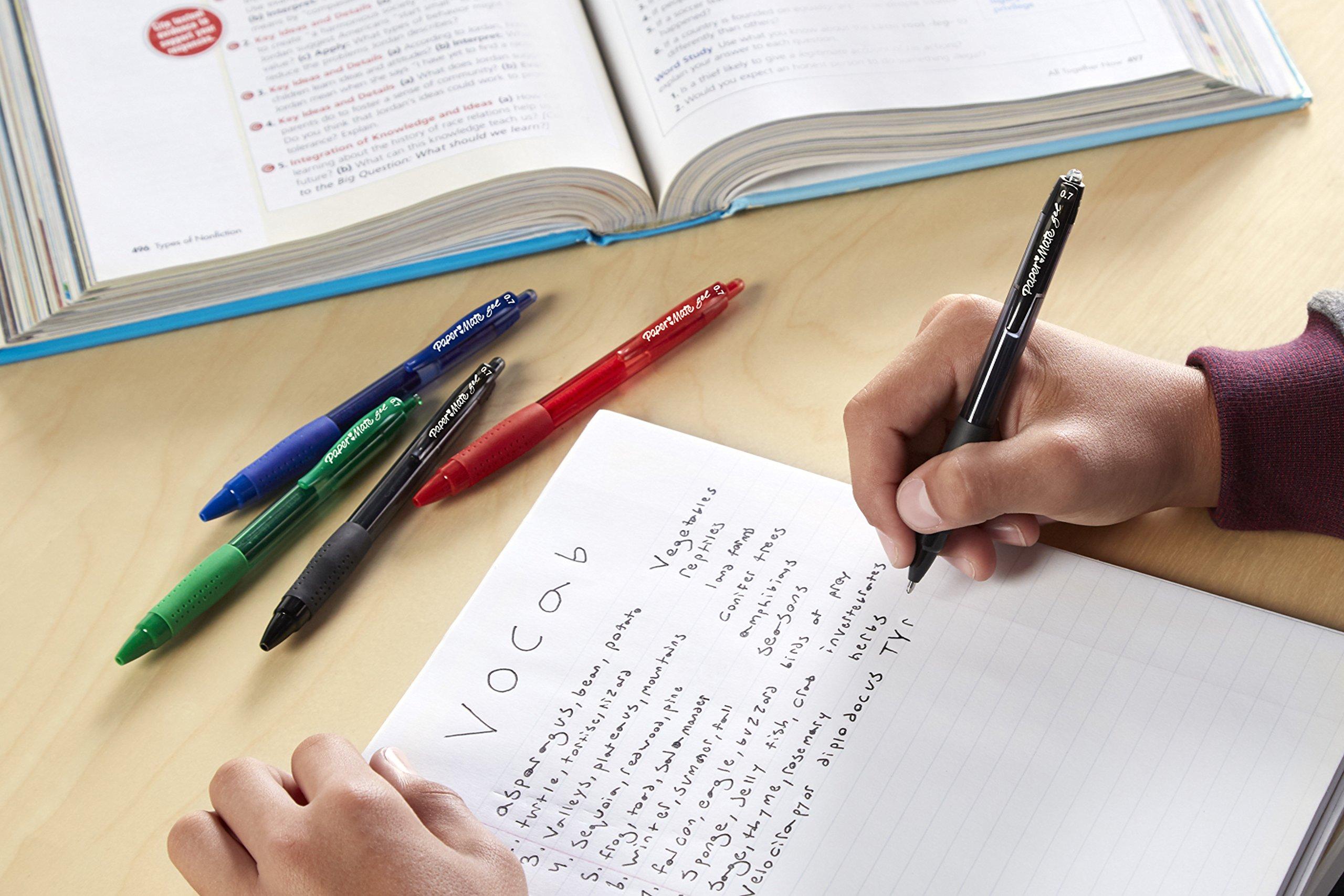 Paper Mate Gel Pens, Medium (0.7mm), Black, 4 Count by Paper Mate (Image #6)