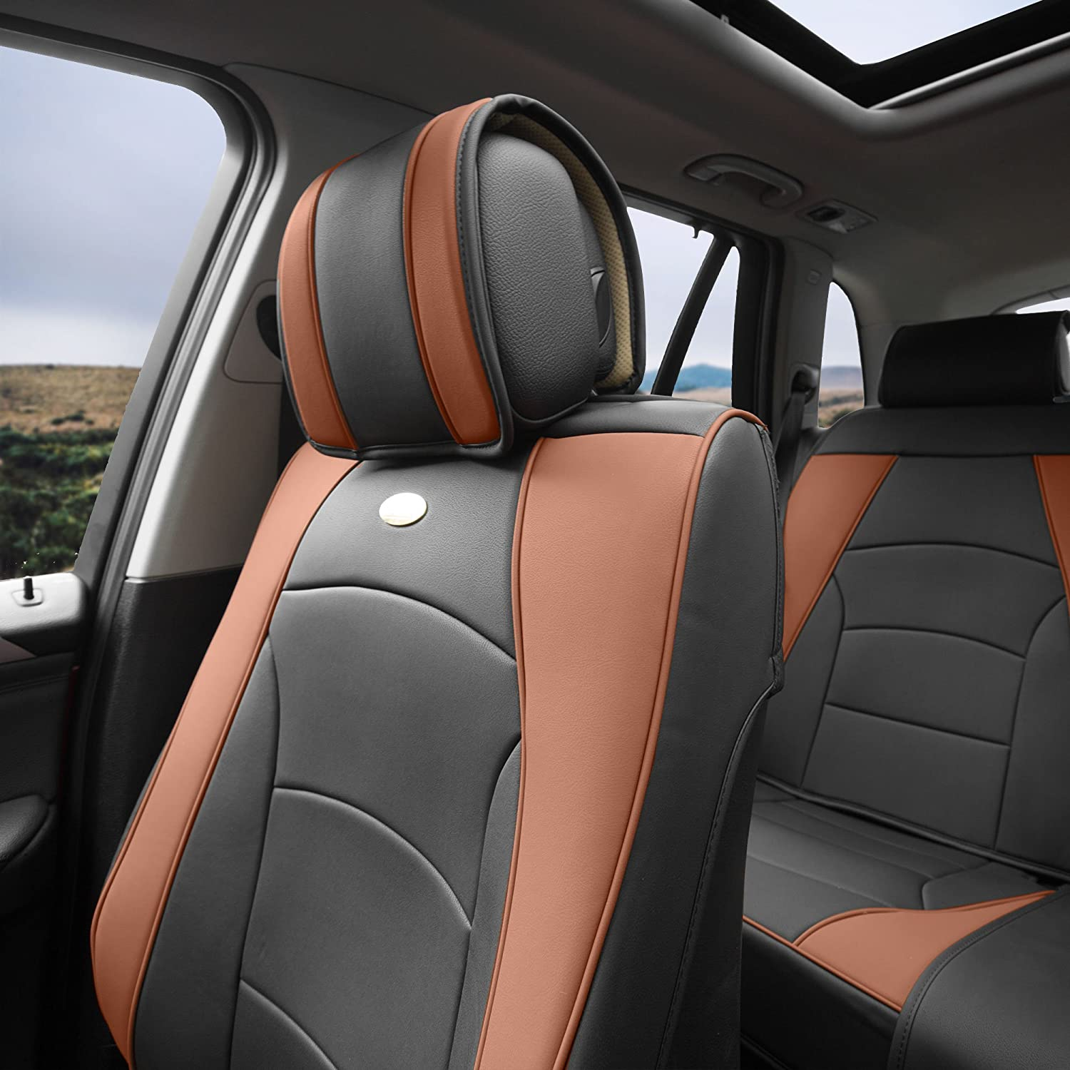 White Universal Fit for Cars Trucks /& SUVs FH Group PU205102 Ultra Comfort Highest Grade Faux Leather Seat Cushions Front Set