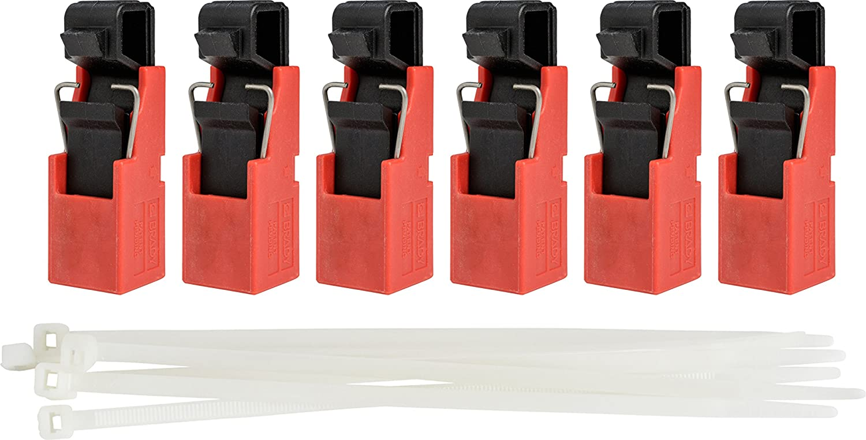 Brady Corp 120//277 Volt Single Pole Breaker Lockout Device Red Brady Taglock Circuit Breaker Lockout Devices 148688 No Lock Needed Pack of 6