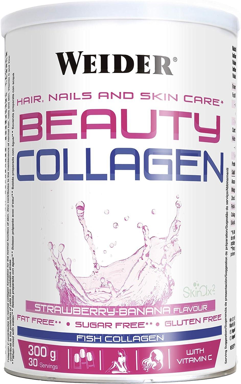 Weider Beauty Collagen Banana 300 g. Colágeno de pescado hidrolizado con SkinAx™. Enriquecido con Vitamina C. Ideal para piel, uñas y cabello.: Amazon.es: Salud y cuidado personal