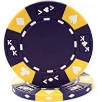 Trademark Poker Ace/King Suited Tri-Color fichas de póquer 14gm