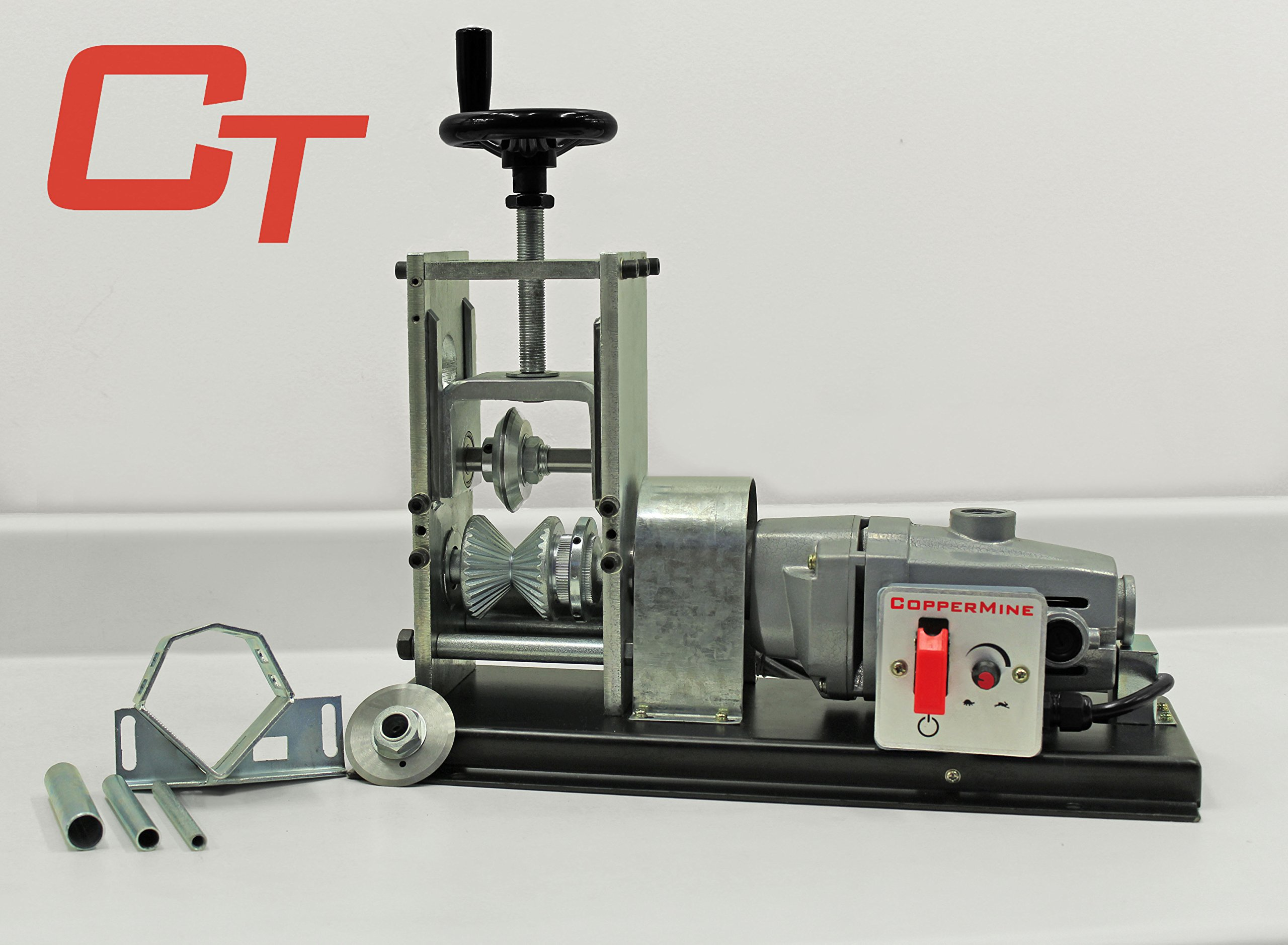Powered Copper Wire Stripping Machine Newest Tabletop Wire Stripper 18 AWG to 4000 kcm