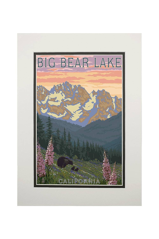 大きな取引 Big Bear湖、カリフォルニア Art – Bears And Spring Matted Flowers Art 24 x 36 Giclee Print LANT-46165-24x36 B06XZXMVBC 11 x 14 Matted Art Print 11 x 14 Matted Art Print, リサイクルきもの天陽:fcce9eb1 --- kuoying.net