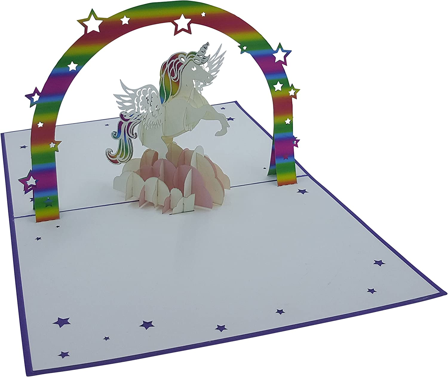 Carte D Anniversaire 3d Motif Licorne Cartes Pop Up Fait