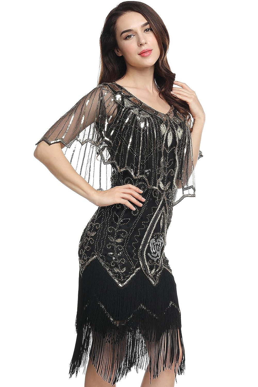 f168e5bf86b5cf ArtiDeco Damen Umschlagtücher Stola für Abendkleid 1920s Retro Schal  Hochzeit Party Braut Schal Gatsby Kostüm Accessoires ...