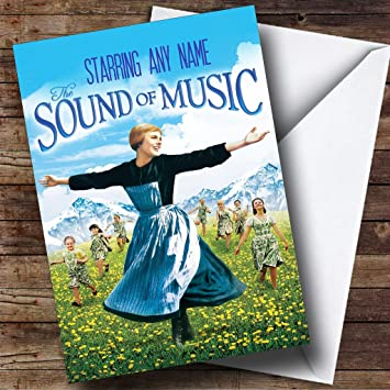 Personalised Spoof The Sound Of Music Movie Film Poster Birthday Card