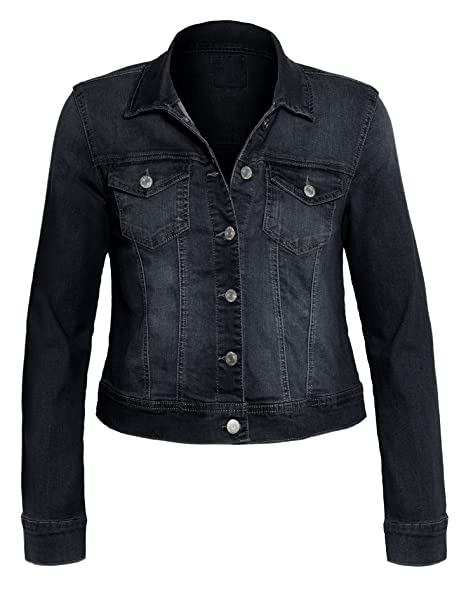 Amazon.com: HOT FROM HOLLYWOOD - Chaqueta vaquera de manga ...