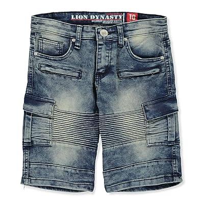 Lion Dynasty Boys' Denim Cargo Shorts