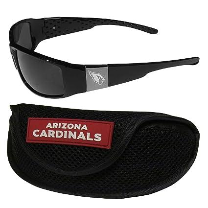 abf2abe6f3f1 Amazon.com   NFL Arizona Cardinals Chrome Wrap Sunglasses   Sports ...
